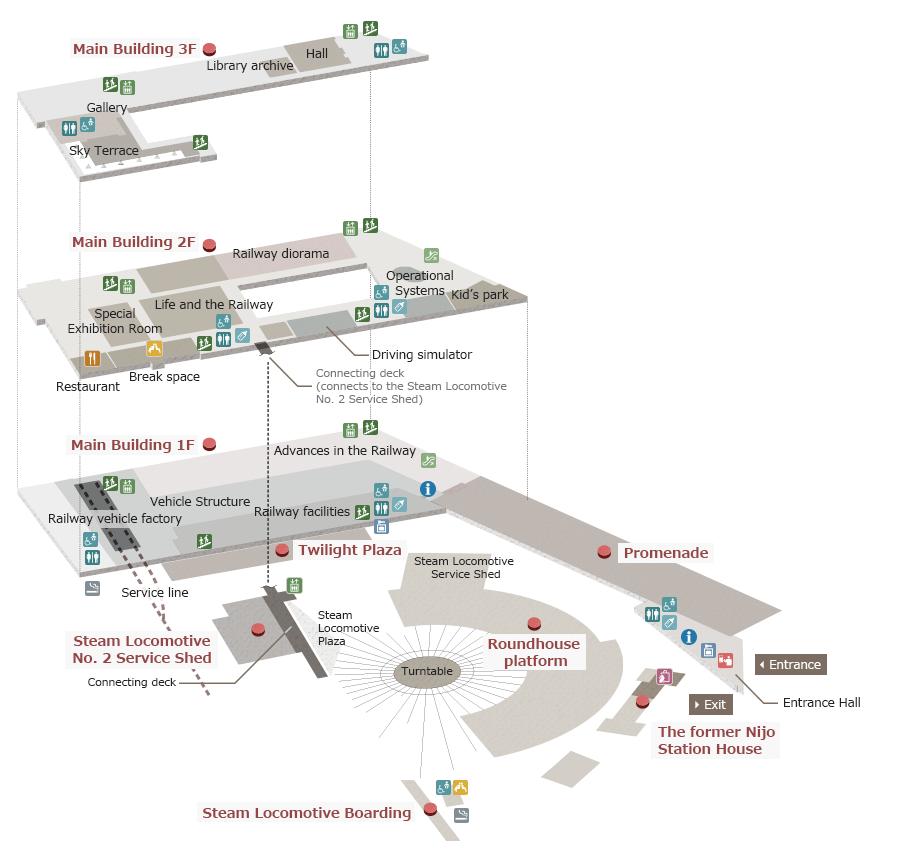 Floor Map Kyoto Railway Museum